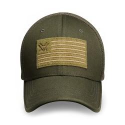 Flex Fit V Nation Flag Hat Green