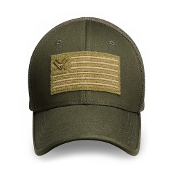 Vortex Optics Flex Fit V Nation Flag Hat Green Sportswear